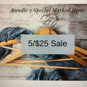 5/$25 Sale How To